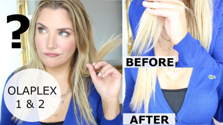 REAL OLAPLEX 1 AND 2 BEFORE AND AFTER ( DONE BY A PRO WITH ORIGINALPRODUCTS)