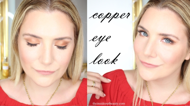 copper eyeshadow makeup look