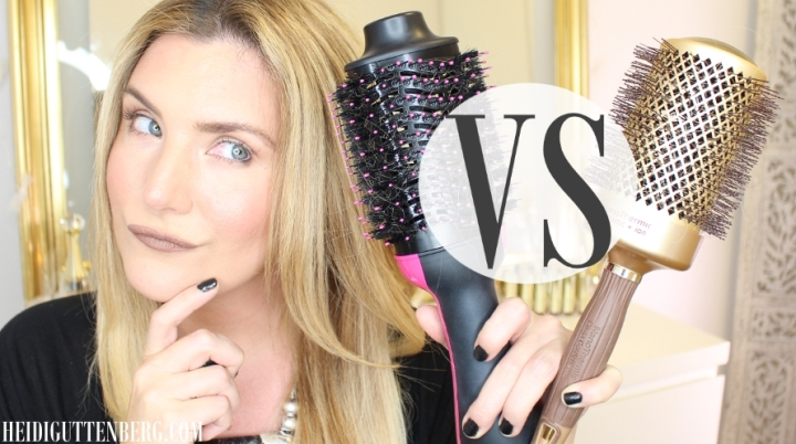 REVLON ONE STEP HAIR DRYER VS OLIVIA GARDEN NANOTHERMIC BRUSH COMPARISON REVIEW | THIS VS THAT